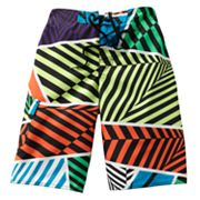 Hang Ten Allover Stripe Cargo Swim Trunks - Boys 8-20