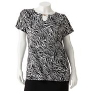 Dana Buchman Animal Embellished Top - Women's Plus
