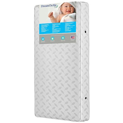 Dream On Me 132-Coil Premium Inner Spring Crib & Toddler Mattress