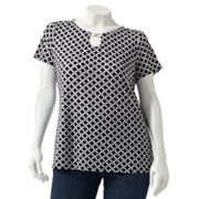 Dana Buchman Geometric Embellished Top - Women's Plus