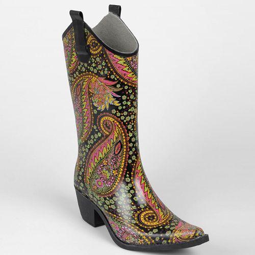 2bdb12fdd63 Journee Collection Paisley Cowboy Rain Boots - Women