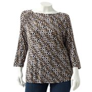 Dana Buchman Circle Embellished Top - Women's Plus