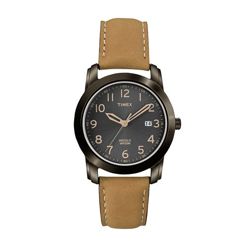 Timex Men's Leather Watch - T2P133
