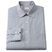Arrow Classic-Fit Striped No-Iron Spread-Collar Dress Shirt