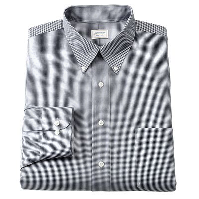 Arrow Classic-Fit Gingham Checked No-Iron Button-Down Collar Dress Shirt