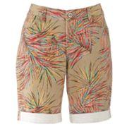 SONOMA life + style Modern Fit Palm Leaf Denim Bermuda Shorts