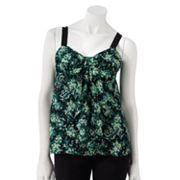 LC Lauren Conrad Bow Mixed-Media Tank