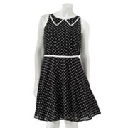 LC Lauren Conrad Polka-Dot Chiffon Dress