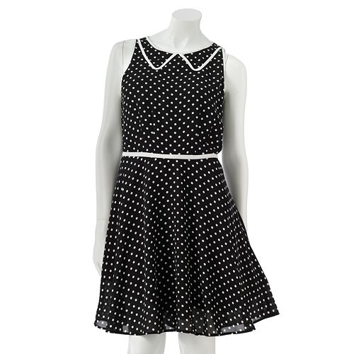 LC Lauren Conrad Polka-Dot Chiffon Dress