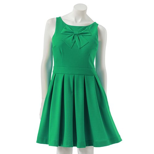 LC Lauren Conrad Bow Fit & Flare Ponte Dress