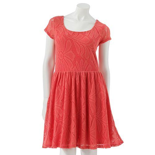 LC Lauren Conrad Lace Fit & Flare Dress