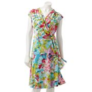 212 Collection Floral Faux-Wrap Dress