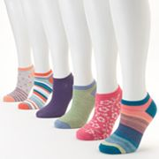 SONOMA life and style 6-pk. Striped, Dotted and Floral No-Show Socks