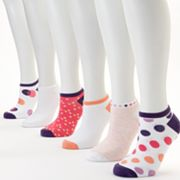 SONOMA life and style 6-pk. Gradiant Dots No-Show Socks