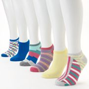 SONOMA life and style 6-pk. Chevron and Striped No-Show Socks