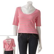 Kandy Kiss Stripe Crop Top - Juniors