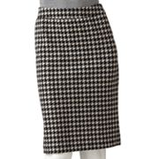 ELLE Houndstooth Ponte Pencil Skirt