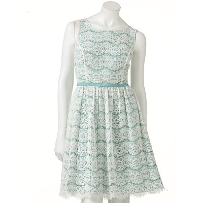 ELLE Lace Fit and Flare Dress