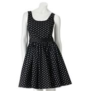ELLE Polka-Dot Fit and Flare Dress