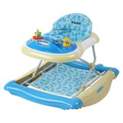 Dream On Me 2-in-1 Crossover Musical Walker and Rocker - Light Blue