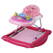Dream On Me 2-in-1 Crossover Musical Walker and Rocker - Pink