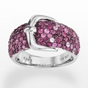 Elements by EFFY Sterling Silver Ruby and Pink Sapphire Buckle Ring