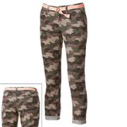 SO Camouflage Chino Ankle Pants - Juniors