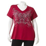 SONOMA life + style Scroll Embellished Tee - Women's Plus
