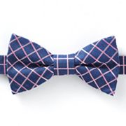 Croft and Barrow Denim Grid Pretied Bow Tie