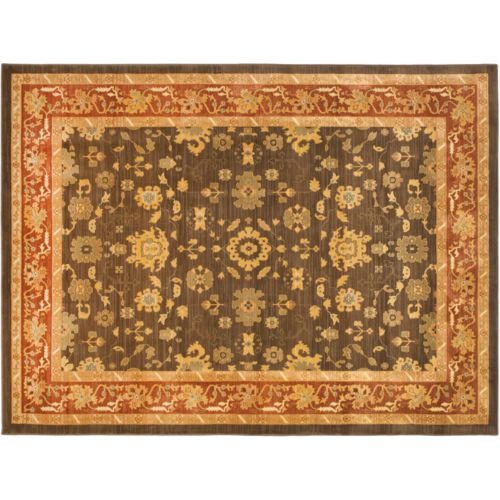 Safavieh Heirloom Framed Leaf Rug - 5'3'' x 7'6''