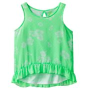 SO Neon Floral Chiffon Tank - Girls Plus
