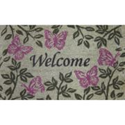 Summer Butterflies Welcome Coir Doormat
