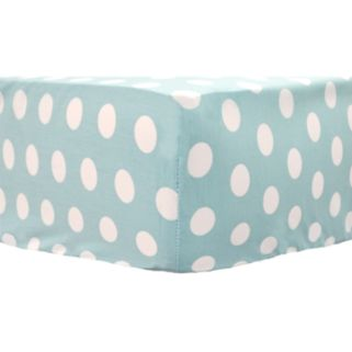 My Baby Sam Pixie Baby Aqua Crib Sheet