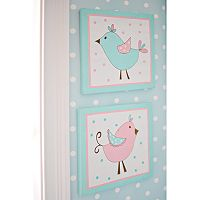 My Baby Sam 2-pk. Pixie Baby Aqua Wall Art