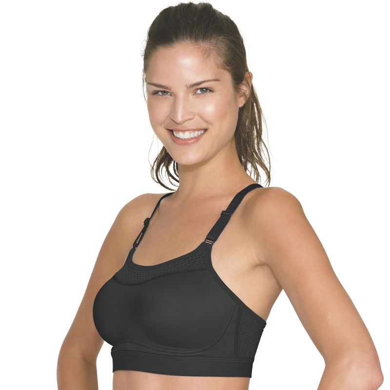 Champion Bra: The Show-Off High-Impact Wire-Free Sports Bra 1666, Women's, Size: Small, Black
