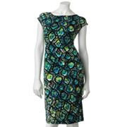 Apt. 9 Snakeskin Ruched Sheath Dress