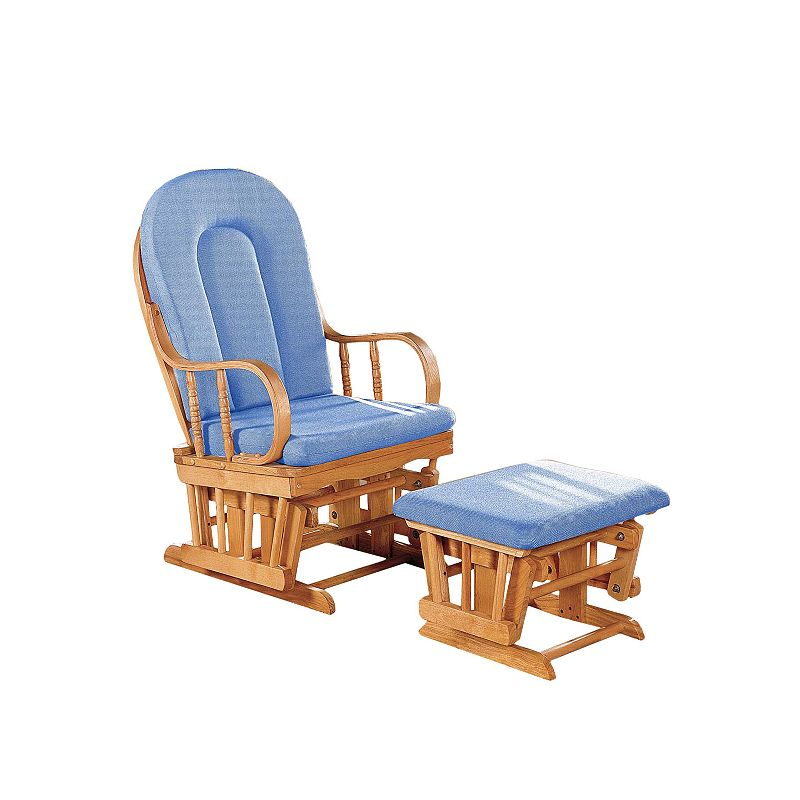 Dream On Me Colonial Glider and Ottoman Set