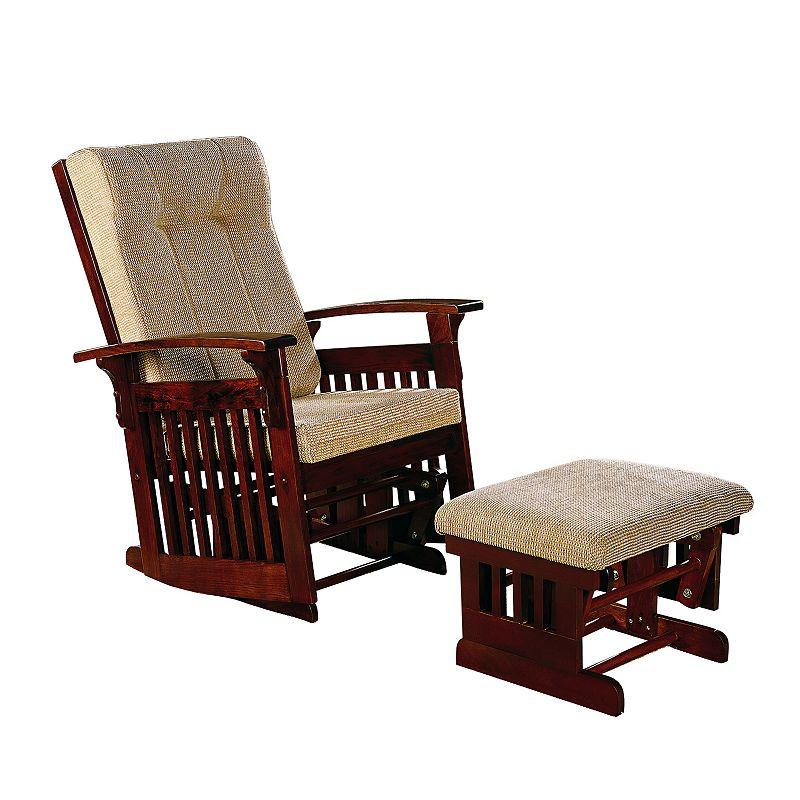 stork craft hoop glider chair ottoman set