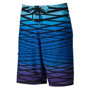 Hang Ten Striped Four Way Stretch Swim Trunks - Men