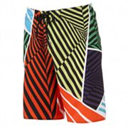 Hang Ten Four Way Stretch Neon Stripe Board Shorts - Men