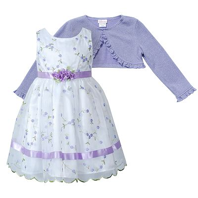 Youngland Floral Dress and Shrug Set - Toddler