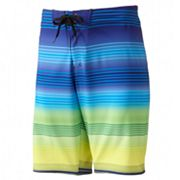 Hang Ten Four Way Stretch Board Striped Shorts - Men