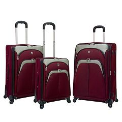 Travelers Club 3 pc Spinner Luggage Set