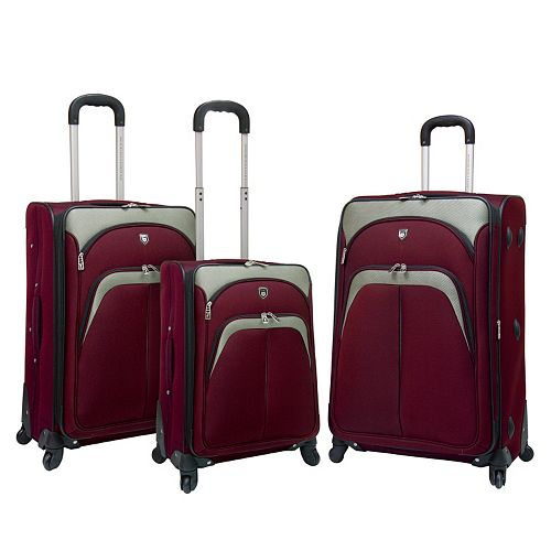 Travelers Club 3-Piece Spinner Luggage Set