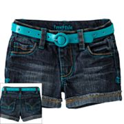 Freestyle Revolution Belted Denim Shorts - Girls 4-6x