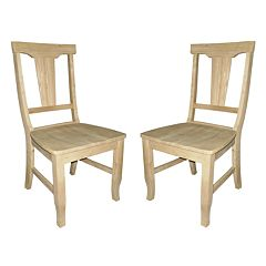2-pc. Panel-Back Dining Chair Set