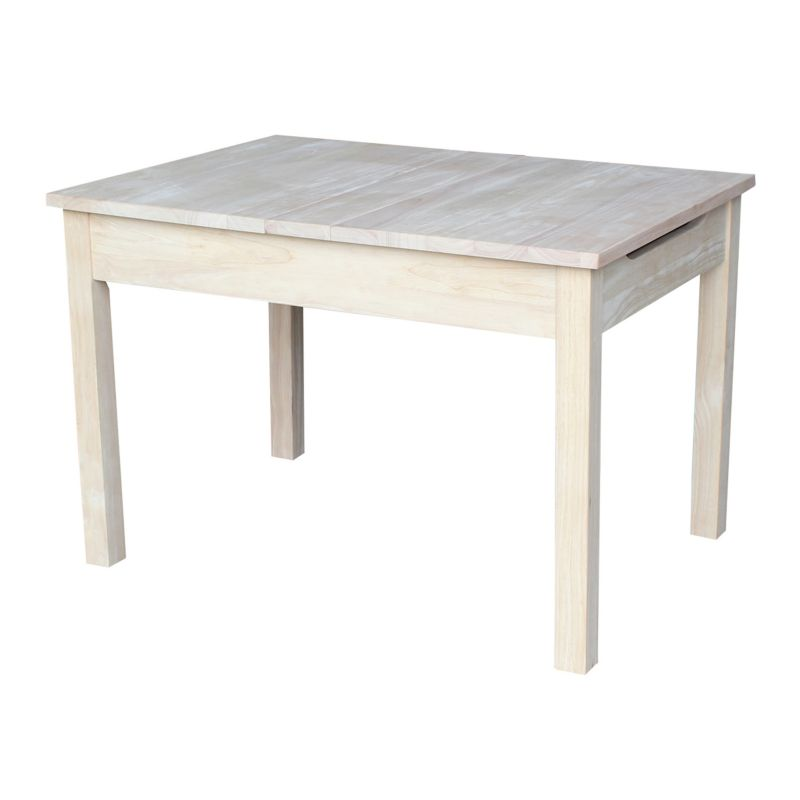 Storage End Table, White
