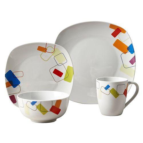 Tabletops Gallery Soho 16-pc. Square Dinnerware Set