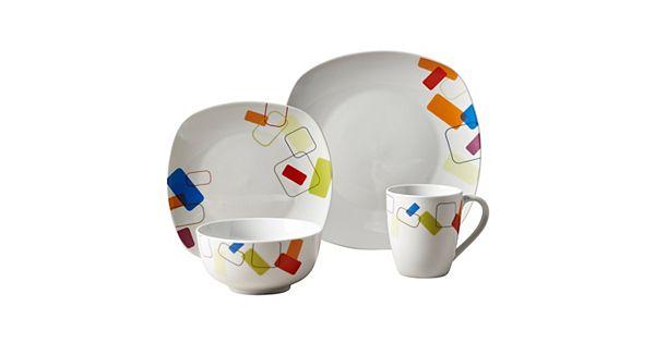 Kohl S Wedding Registry: Tabletops Gallery Soho 16-pc. Square Dinnerware Set