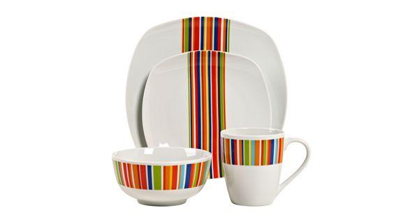 Kohl S Wedding Registry: Tabletops Gallery Westwood 16-pc. Square Dinnerware Set